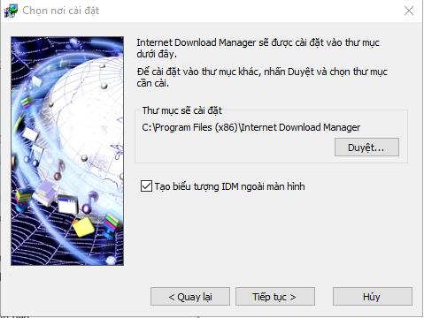 Cài đặt phần mềm IDM full