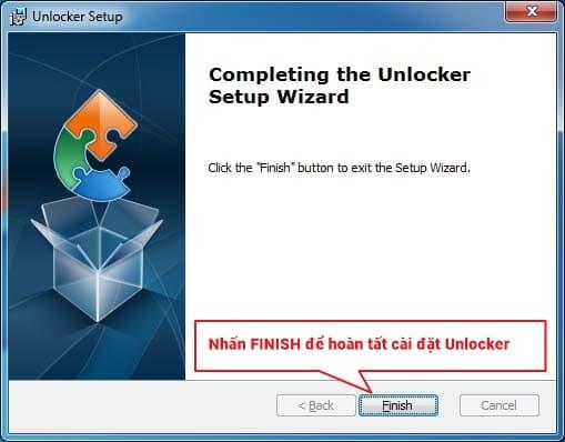 Cài đặt phần mềm unlocker