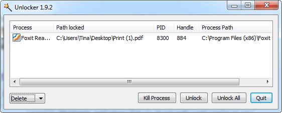 Xóa file bằng Unlocker