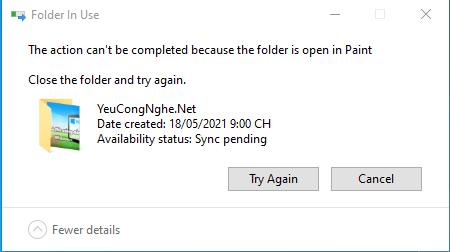 Không thể xóa file cứng đầu trên windows