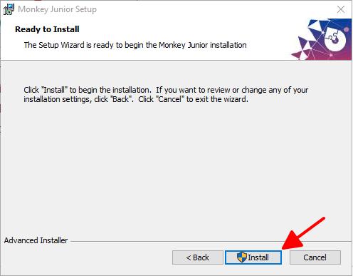 Cài đặt phần mềm Monkey Junior trên máy tính